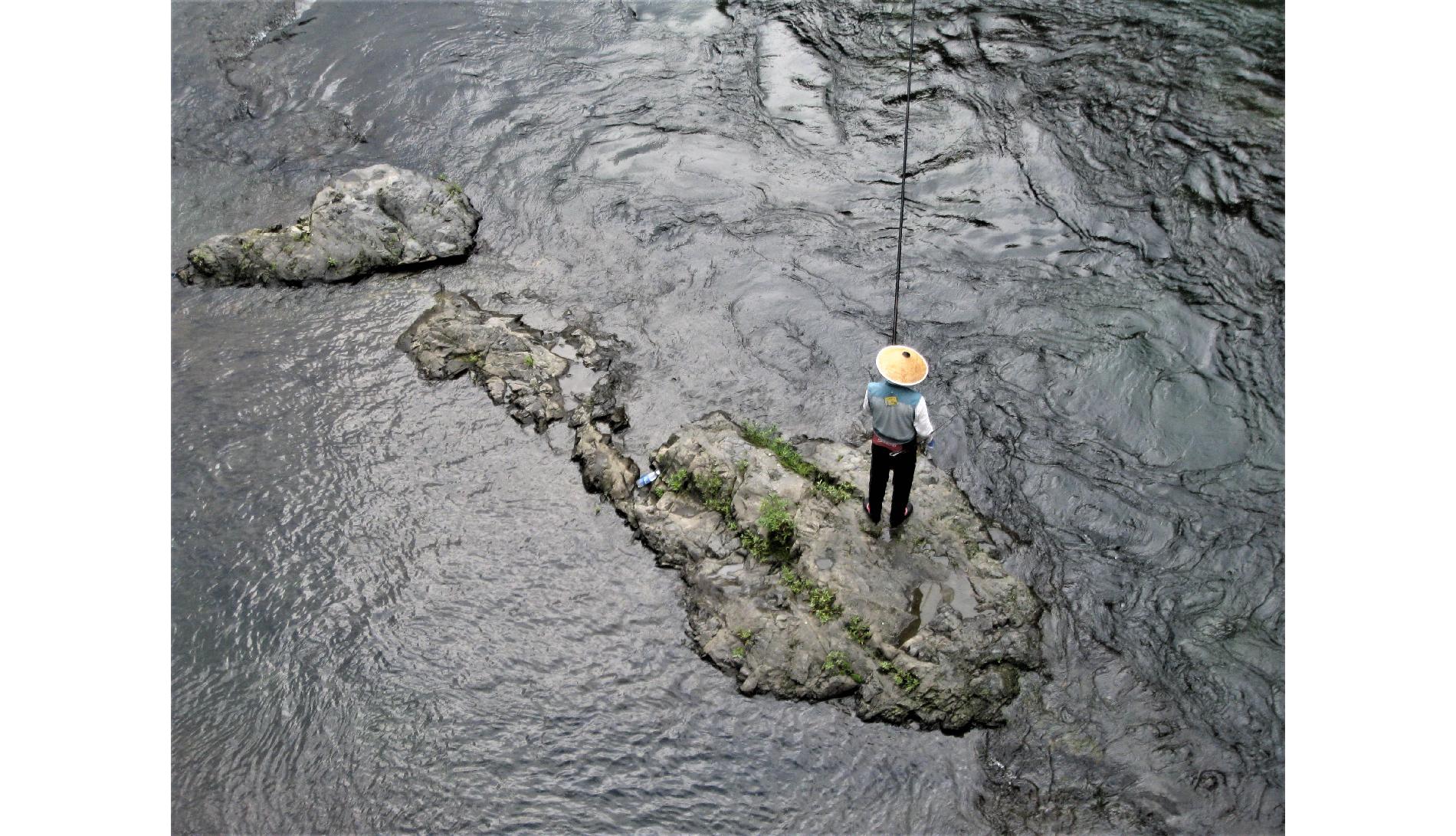 『アユ釣り』
